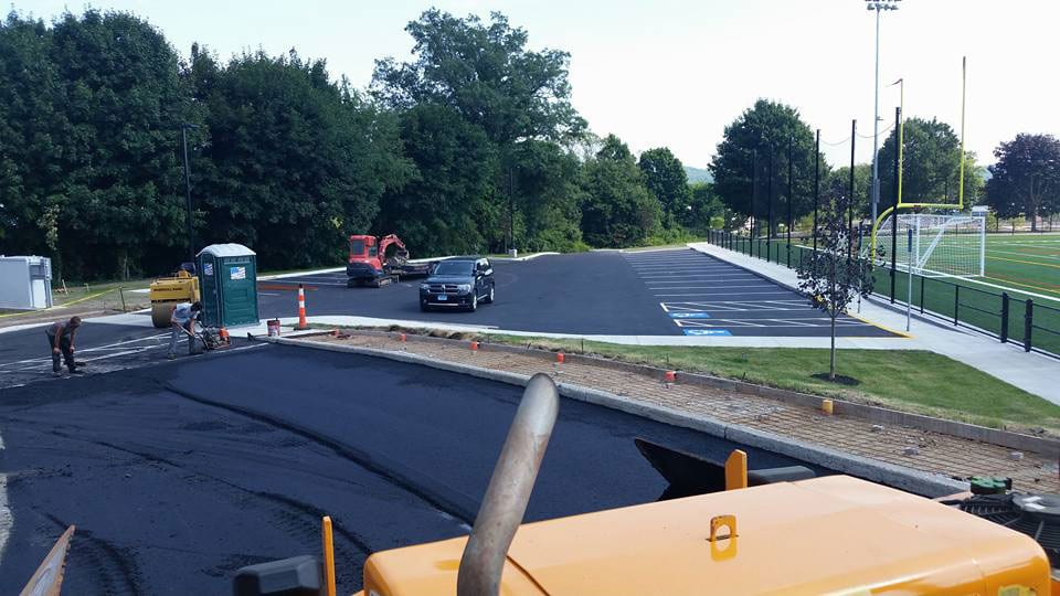 new asphalt road